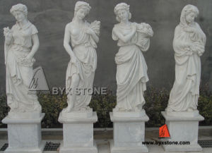 Natural White Marble Outdoor Garden Ladies Sculpture for Decoration pictures & photos