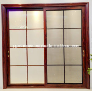 China Factory Price Aluminum Sliding Door With Grill Glass