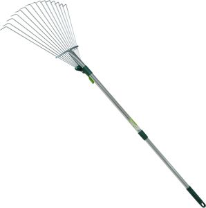Garden Tools Zinc Plated Steel Ajustable Leaf Rake with Adjustable Aluminium Handle pictures & photos