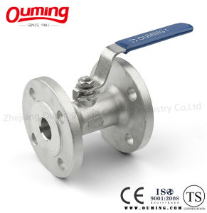 One-Piece Stainless Steel Flange End Ball Valve pictures & photos