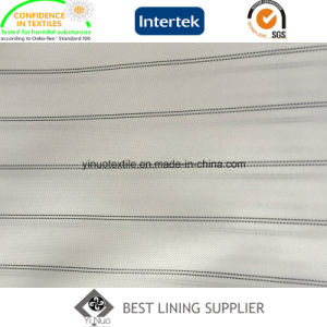 Polyester Black and White Men′s Suit Sleeve Lining Fabric Supplier pictures & photos