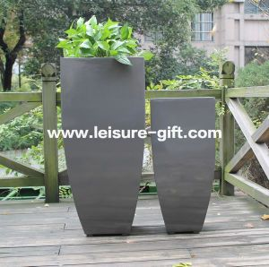 Fo-288 Conical Fiberglass Flower Planter, Tall Flower Pot pictures & photos