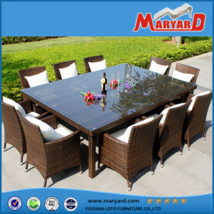 Outdoor Wicker Rattan Dining Set for 6 Person pictures & photos