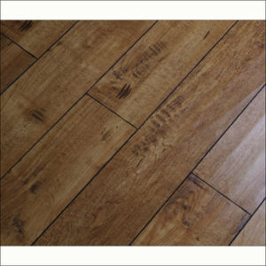 12mm Brushed Grain Handscraped HDF Laminate Flooring with V-Groove pictures & photos