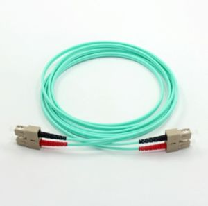 Sc-Sc Om3 Aqua Fiber Optic Patch Cord pictures & photos