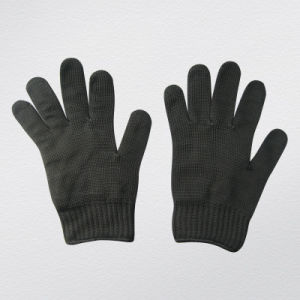Black Polyester Metal Mesh Anti-Cut Protective Glove-2354 pictures & photos
