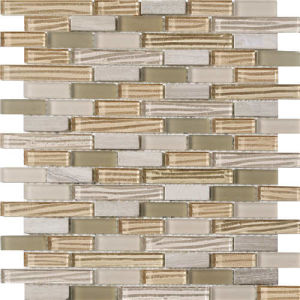 Irregular Natural Surface Wall Tile Beige Marble Stone Mosaic pictures & photos