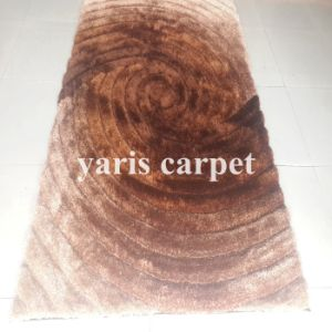 Brown Color Circle Design Flashing Carpets