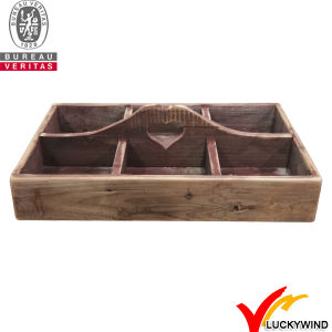 4 Compartments Antique Wooden Crate with Handles pictures & photos