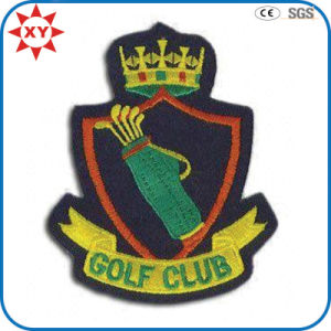 Customized Golf 100% Hand Embroidery Badges pictures & photos