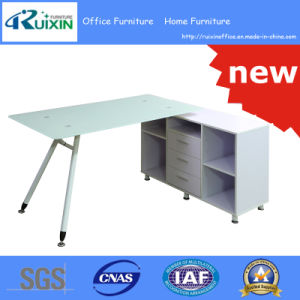 High Quality Multifounctional Wooden Computer Desk with Glass Top (RX-D1168)
