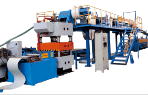 High Speed Capacity CE& ISO Certificated PU Formed Sandwich Panel EPS Line pictures & photos