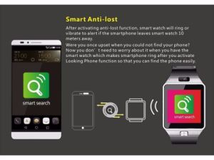 OEM Manufactoring Bluetooth Music Playing GSM / GPRS Network Android Smart Watch Dz09