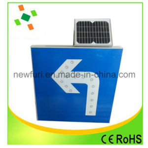25 Pixel Tubes Solar LED Arrow Flashing Board Traffic Sign pictures & photos
