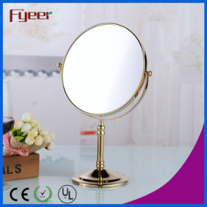 Fyeer Compact Mirror Gold Plated Desktop Cosmetic Mirror (M5618G) pictures & photos