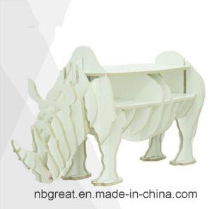 Wooden Bookshelf for Rhinoceros Model pictures & photos