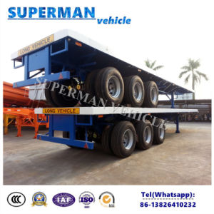 Cimc Tri Axle 40FT Flatbed Cargo Semi Trailer for Sale pictures & photos