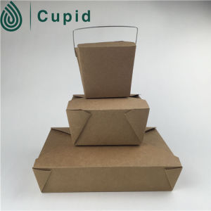 Wholesales Recycled Kraft Paper Meal Box Food Safe Paper Box pictures & photos