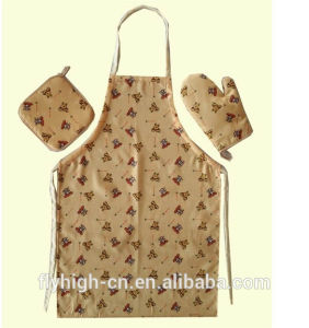 35%Cotton 65%Polyester Kitchen Bib Aprons Sets Wholesale pictures & photos