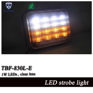 9 *7 Inch White and Amber Split Color Ambulance Surface Mount Warning Light (TBF-830L-E) pictures & photos