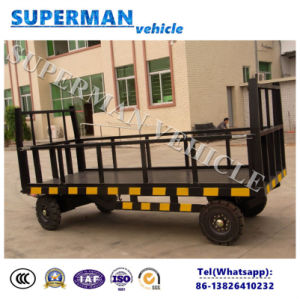 5t Utility Flatbed Luggage Transport Cargo Full Trailer pictures & photos