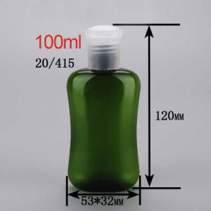 100ml 20/415 Clear Flip Top Cap Showel Gel Bottle Round Shoulder Body Lotion Bottle pictures & photos