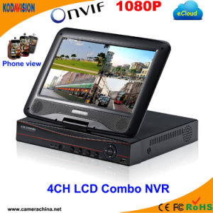 4 Channel H. 264 Standalone Onvif CCTV LCD Combo NVR pictures & photos