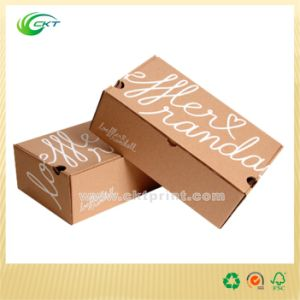 Black Packaging Box with Kraft Paper (CKT-CB-421)