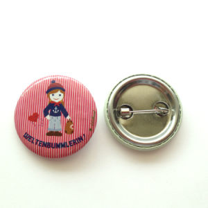 Round Pink Color Badge Tin Button Badge pictures & photos