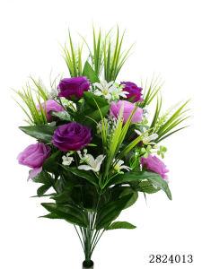 Artificial/Plastic/Silk Flower Rose Bush (2824013) pictures & photos