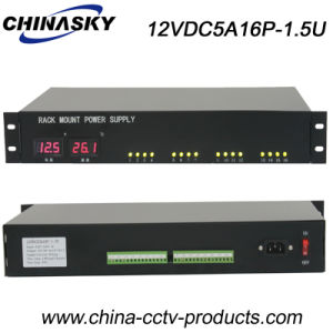 16 Channel Rackmount LED Display Security Power Supply (12VDC5A16P-1.5U) pictures & photos