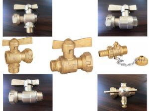 Brass Water Meter Lead Angle Valve (a. 0122) pictures & photos