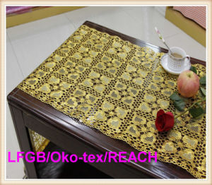 PVC Gold Lace Table Runner/ 50cm Lace Rolls pictures & photos