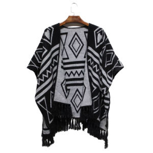 2016 Winter New Women Fashion Acrylic Woven Jacquard Shawl (YKY4503) pictures & photos