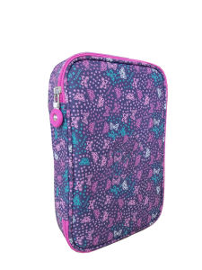 Butterfly Pattern Pencil Box, Big Capacity Pencil Pouch