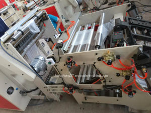 Microcomputer Control Heat-Sealing & Heat-Cutting 2 Lines Bag-Making Machine pictures & photos