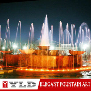 Outdoor & Indoor Music Dance Fountain with Words and Patterb Design
