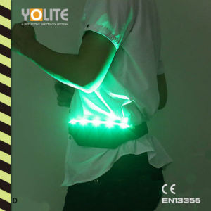 LED Light Purse, Reflective Light Pockets, Waist Bag, LED Luminous Belt with CE En13356 pictures & photos