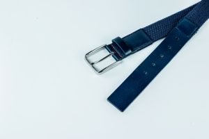 Hot Selling Fashion Woven Elastic Belt Genuine Leather Men′s Belt pictures & photos