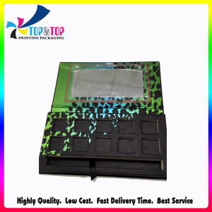 Flocking Leopard Design Hot Stamping Paper Make up Packaging Box pictures & photos