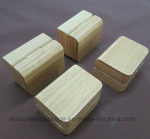 Natural Hardwood Double Ring Box pictures & photos