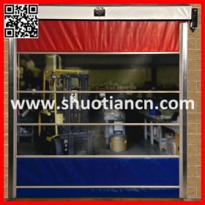 Fabric PVC Vinyl Rolling Doors (st-001) pictures & photos