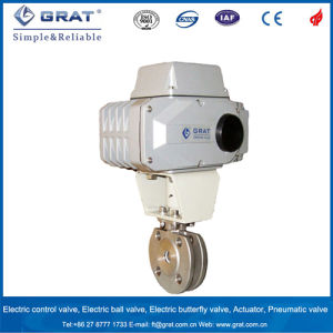Electric Actuated Thin Type Wafer Ball Valve pictures & photos