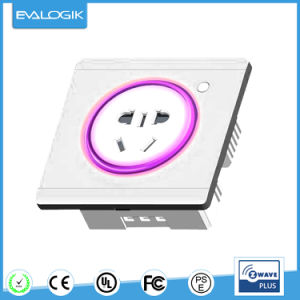 Z-Wave Wall Switch Socket on/off for Home Automation (ZW691) pictures & photos