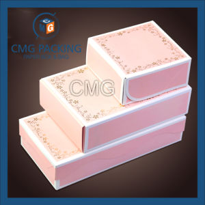 Pink Set Customized White Boarder Mooncake Box (CMG-cake box-030) pictures & photos