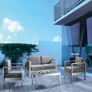 Anodized Aluminum Frame PE Rattan Patio Outdoor Furniture Double Sofa From Foshan Factory pictures & photos