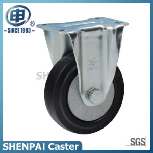 "3"" Black Rubber Fixed Industrial Caster Wheel pictures & photos"