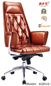 Chinese Wood Hotel Furniture Leather Arm Office Boss Chair (B2014-1) pictures & photos