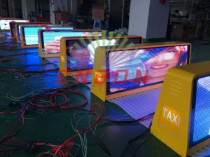 3G WiFi Double Sided Taxi Top LED Display with GPS pictures & photos