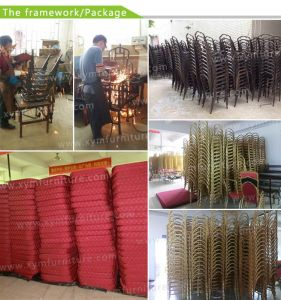Stackable Aluminum Metal Hotel Restaurant Dining Banquet Chair (XYM-L23) pictures & photos